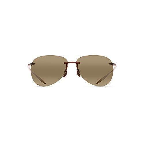 618f6cf84e1 Maui Jim Sunglasses Sugar Beach H421 Rimless Frame, Polarized Lenses, with  Patented PolarizedPlus2 Lens