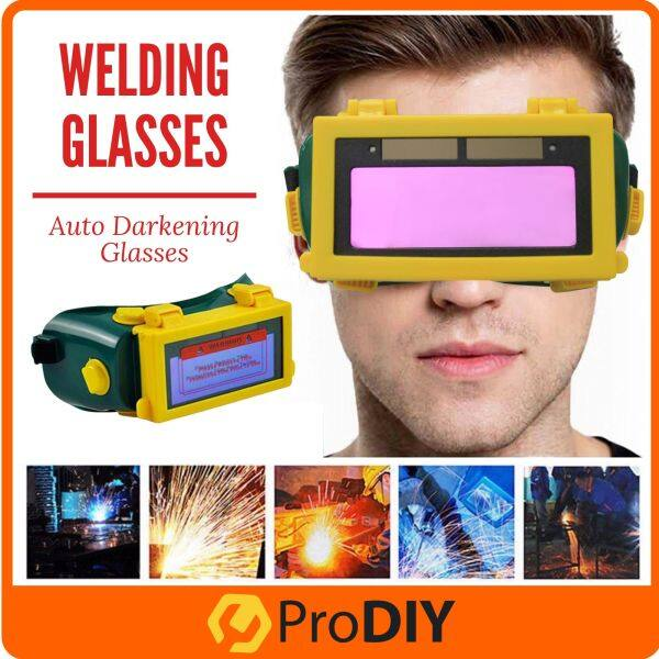 Auto Darkening Glass Welding Glasses Durable Flip Up Safety Eyecare Photoelectric Soldering Solar Kimpalan ( A33 )