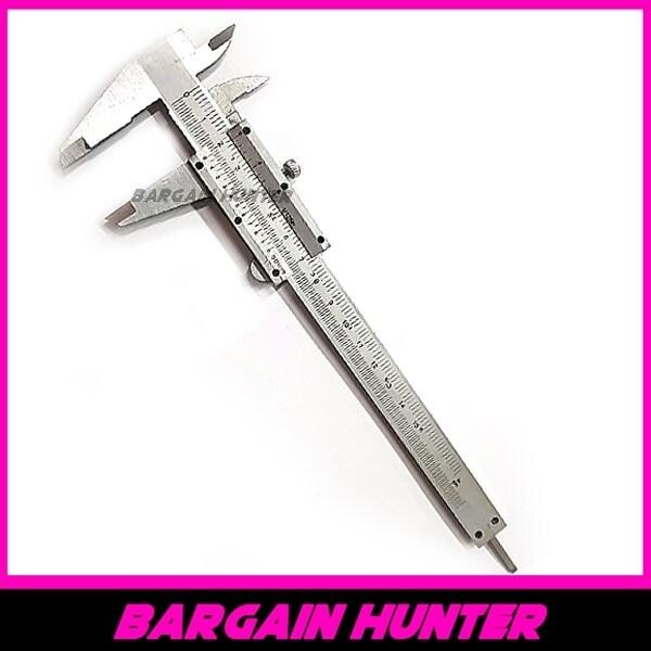 """BARGAIN HUNTER - ANTON 6"""" Stainless Steel Vernier Caliper Gauge Lockable Head 150MM/ Stainless Steel Vernier Caliper 6"""" 150mm / Metric, For Depth / Inside / Outside / Step Measurements"""