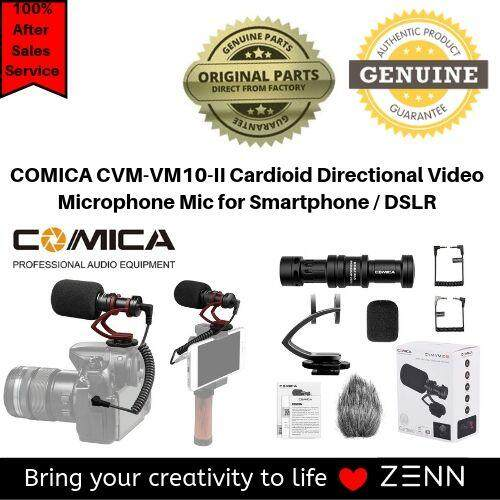 COMICA CVM-VM10-II Kit Cardioid Directional Condenser Video Microphone Mic  With Shock-Mount for Smartphone / DSLR