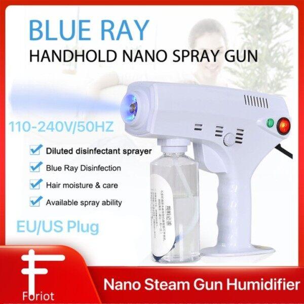 Đèn Xanh Lam Khử Trùng 1200W Máy Tạo Độ Ẩm Nano Mister Nano Steam G-un Đèn Phun Sương Màu Xanh Dương 260ML Phích Cắm Chuẩn CHÂU ÂU/Anh 110-240V Khử Trùng Phun