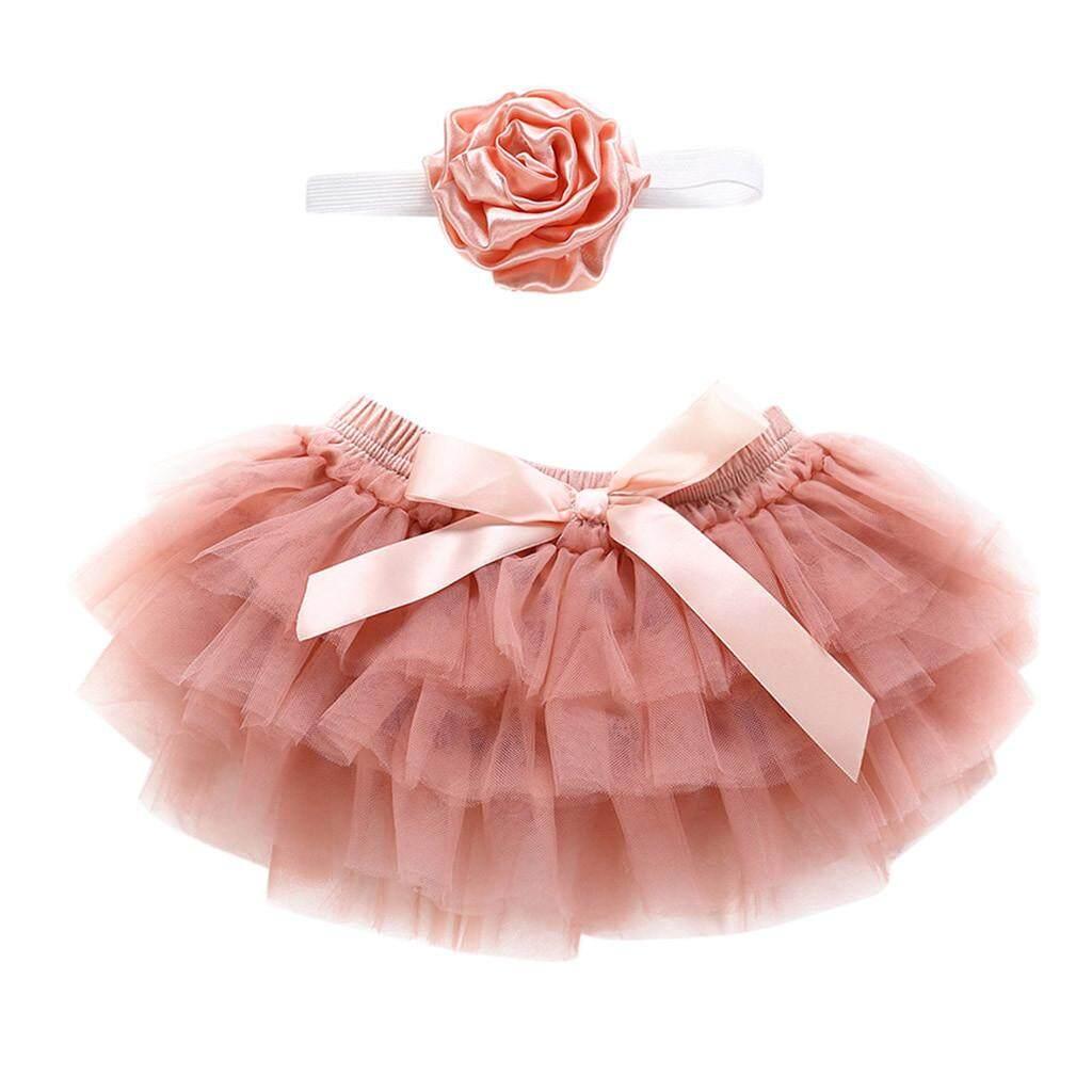 1f167af70 Newborn Infant Kids Baby Girl Bowknot Tulle Tutu Skirts+Headband Outfits  Clothes