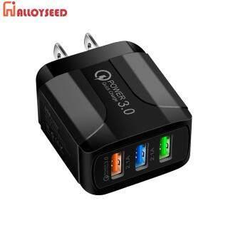 ABS 5V 2.4A 3 Cổng USB Smart QC 3.0 Sạc Nhanh Bộ Chuyển Đổi Sạc Điện Thoại Trên Tường thumbnail