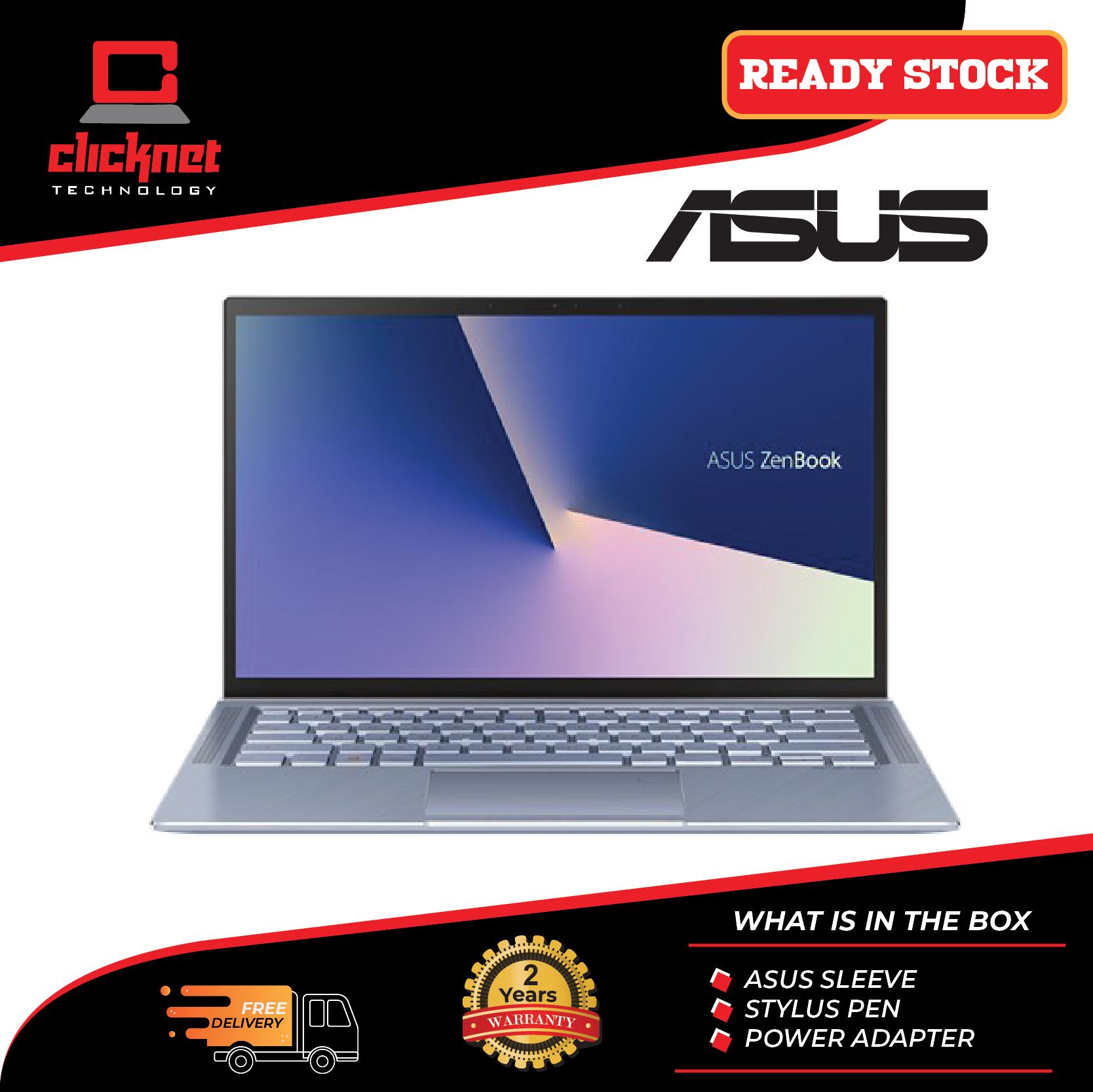Asus Zenbook UM431D-AAM041T 14  FHD Laptop Silver Blue (Ryzen 5-3500U, 8GB, 512GB SSD, ATI, W10) Malaysia