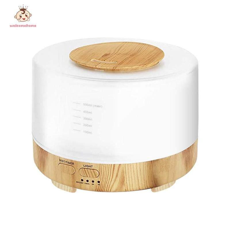 500ml Humidifier Mute Ultrasonic Aromatherapy Wood Grain Air Diffuser Essential Oil Diffuser Singapore