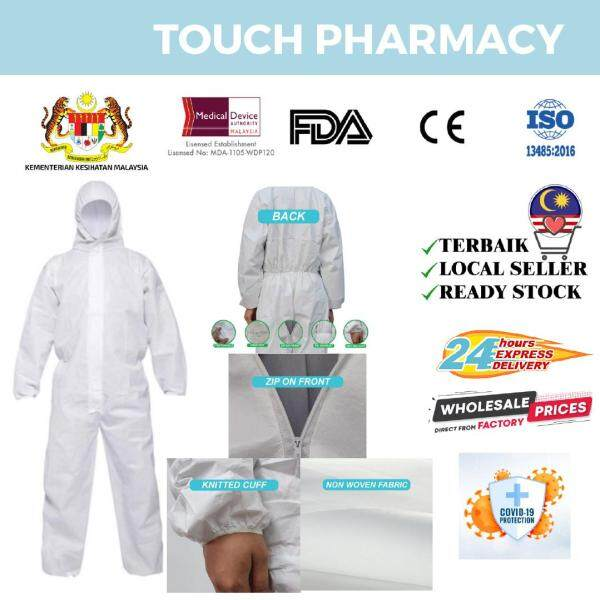 KKM Frontliners - PPE Suit Medical Coverall Jumpsuit isolation Suit with HOOD 60gsm SMMS Coated 100% Viruses/Water Proof