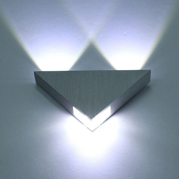 3W Hiện Đại Đèn LED Ốp Tường Nhôm Cơ Thể Tam Giác Đèn Tường Cho Phòng Ngủ Thiết Bị Chiếu Sáng Gia Đình Treo Tường Gắn Tường