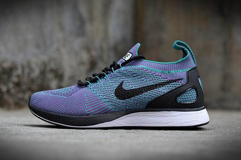 NIKE_AIR_ZOOM MARIAH Flyknit_RACER Men's and Women's Running Shoes Lace-up Athletic Sports Sneakers Cozy