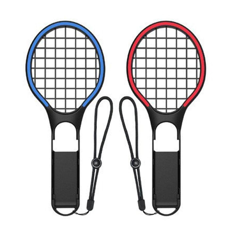 Easy Fun Dobe Switch Colorful Tennis Racket Ns Small Handle Two-Color Sports Tns-1862 Red And Blue Pair Tennis Racket By Easy Fun.