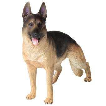 WISTIC ที่สมจริง Shepherd สุนัขสัตว์โมเดลแกะสลักของเล่นเด็กบ้านคอลเลกชันเครื่องประดับ-