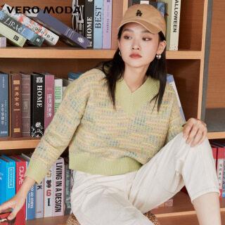 Vero Moda Áo Dệt Tay Cánh Dơi Cổ Chữ V Kẻ Sọc Cho Nữ 320413096 thumbnail