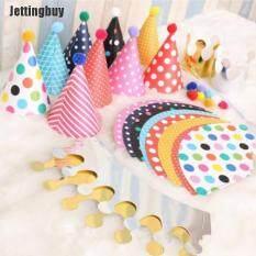 [Jettingbuy] 11 Cái/bộ Mũ Tiệc Sinh Nhật Vui Vẻ, Mũ Trẻ Em Chấm Bi Nguồn Cung Cấp Bên
