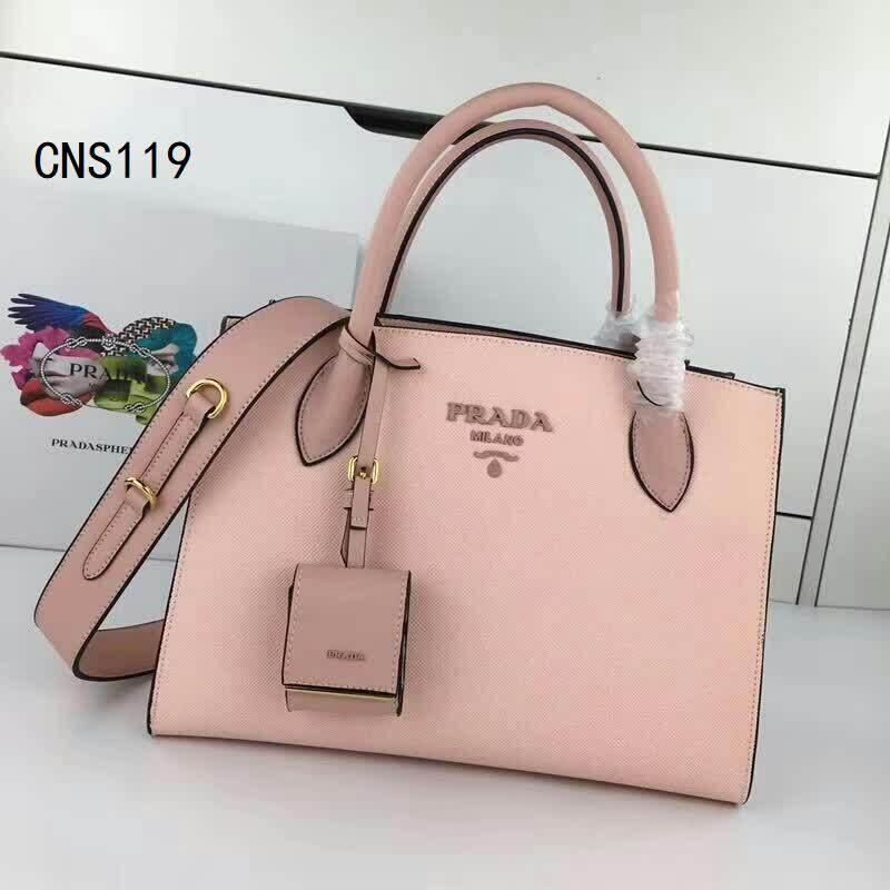 กระเป๋ากระเป๋าถือแบบดั้งเดิม 2019 Prada_ribbon Tote.