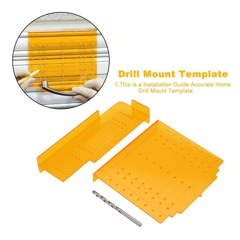 Cozy Wood Drilling Locator Kit Doweling Drill Mount Template for Knob Cabinet Doors