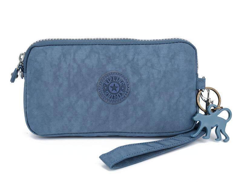 Kipling_ canvas wallet High quality Fashion Leisure canvas Women wallet Mobile phone bag