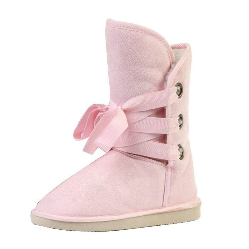 Winter Fake Firn Nobuts Womens Biker Snow Boots (pink, Us7) By Xhkjin.