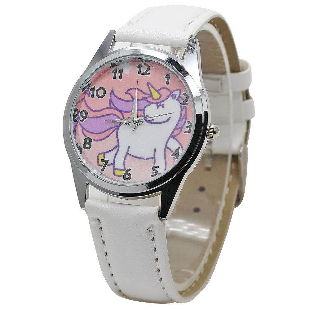 YB1159 Fashion Cute Unicorn Cartoon Girl Boy Child Quartz Watch Waterproof Sports Leather Watch Women Baby Watch Gift FWKI 05 Malaysia