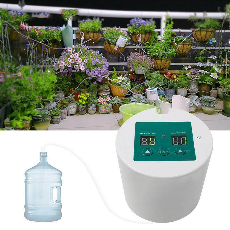 SilyNew Potted automatic watering device DIY Automatic Drip Irrigation Kit, Self Watering System with 30-Day Electronic Water Timer