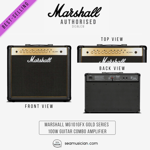 MARSHALL MG101GFX GOLD SERIES 100W GUITAR COMBO AMPLIFIER (MG101/ MG 101/ GUITAR AMP/ AMPS) Malaysia