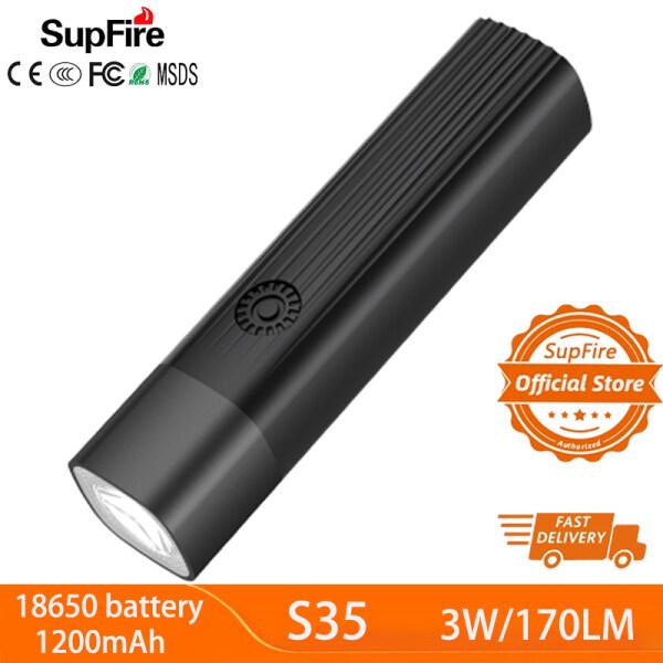 Supfire S35 Mini Đèn LED Không Thấm Nước Xách Tay Đèn Pin
