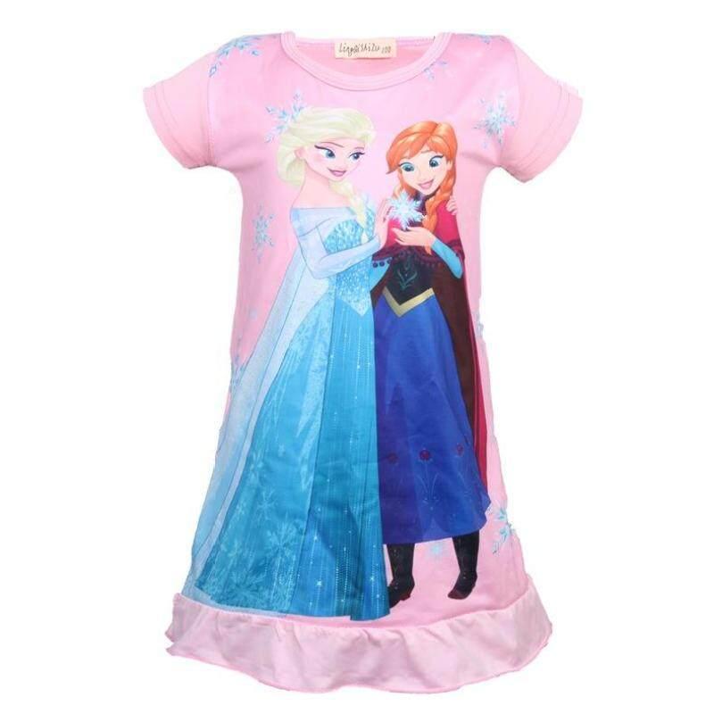 Nơi bán Thời trang Trang Phục Công Chúa Bà Solf Trẻ Em Anna Elsa Hoạt Hình cho Bé Gái Bộ Đồ Ngủ Quần Ngủ Váy Ngủ
