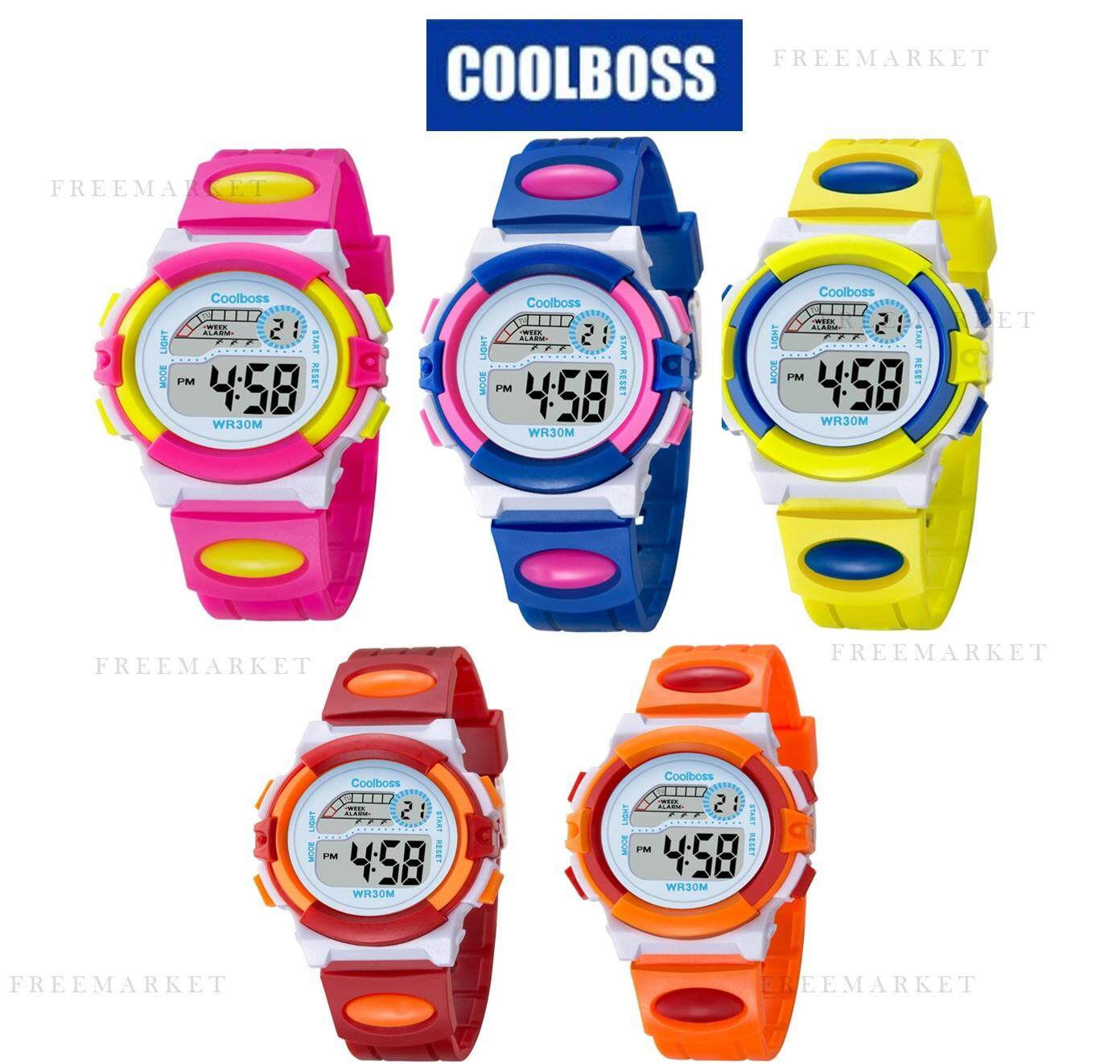 COOLBOSS Brand Electronic Sport Student Children Watch Kids Watches Boys Girls Clock Child LED Digital Wristwatch for Boy Girl Malaysia