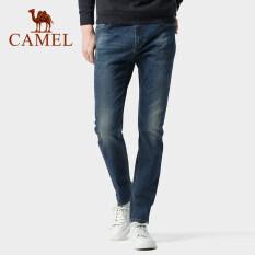 CAMEL Quần jean dài cho nam có wash trắng chất liệu dày dặn cao cấp thời trang trẻ trung – INTL