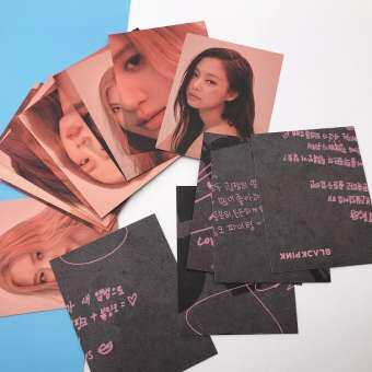 16 ชิ้น/เซ็ต blackpink HD photocard ฆ่าความรักนี้คอนเสิร์ตกระดาษภาพถ่ายการ์ด Collective cards