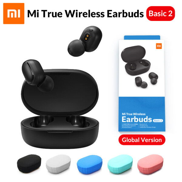 Original Xiaomi Mi True Wireless Earbuds Basic 2 (Xiaomi Redmi AirDots 2) Wireless Bluetooth 5.0 Charging Earphone In-Ear stereo bass Earphones Ture Wireless Earbuds AI Control Singapore