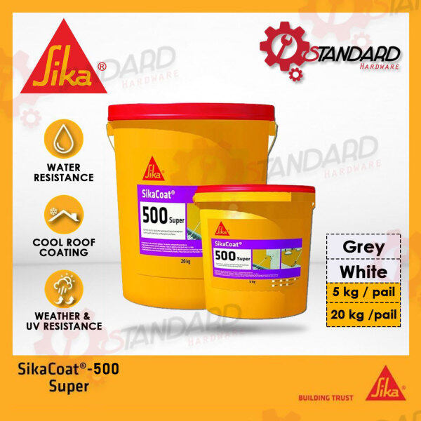 [READY STOCK] SikaCoat 500 Super - 20kg - Waterproofing - Fibre Reinforced Color White or Grey