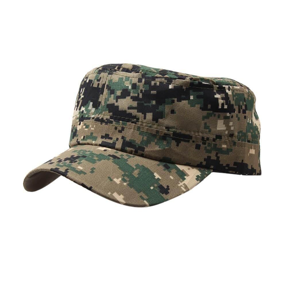 Men Women Army Cadet Military Hat Baseball Cap Sun Outdoor Plain Camo Casual Cap