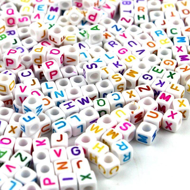 100pcs 6mm Diy Alphabet Letters Beads Charm Loom Bracelets Accessories By Rytain.