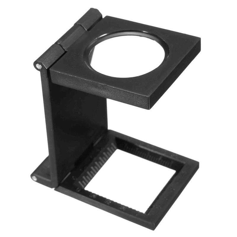 10X 28mm Mini Microscope Folding Magnifier Loupe with Scale