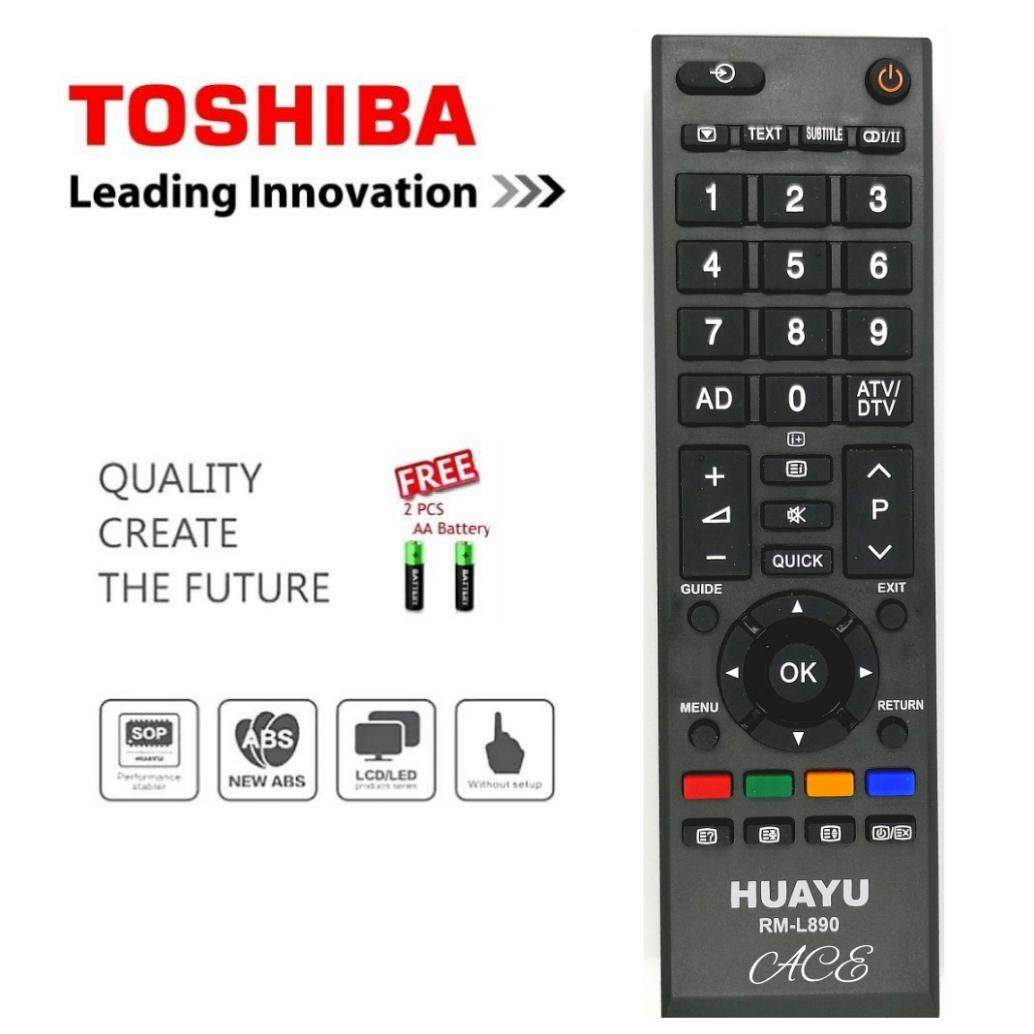 Huayu Common Toshiba Lcd/led Tv Remote Control Rm-L890(free Aaa Battery) By Ace Online.