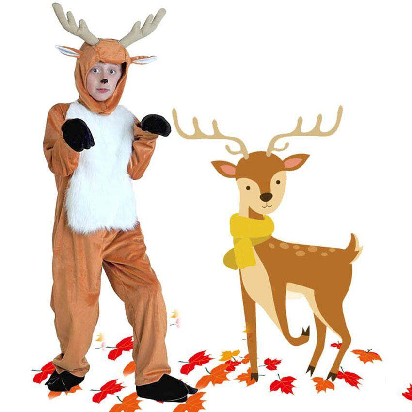 Deer Cos Plays Stage Costumes Adult Children's Animal Costumes Parent-child Costumes Halloween Costumes Party Suits
