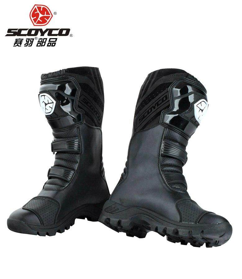 SCOYCO motorcycle riding Boots street automobile racing boots road Motocross riding shoes MBT012 only EU size 42 US size 8.5 FTH Store
