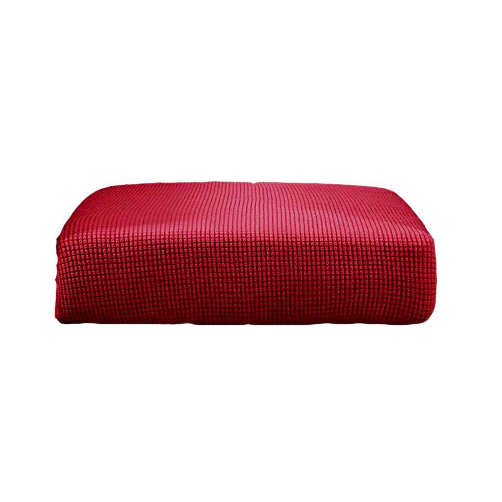 BolehDeals 3Pcs Sofa Futon Seat Cushion Cover Couch Slipcover Protector Red_Size S