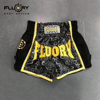 Quần Đùi Muay Thai 2 Màu Fluory Quần Đùi Đấm Bốc In Hoa Quần Đùi Mma Mẫu Mới thumbnail