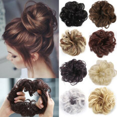 zhongcui Búi tóc xoăn chất liệu chịu được nhiệt độ cao kích thước 9.5*6 inch dùng hàng ngày đi làm tiệc tùng vũ hội đám cưới và những dịp đặc biệt