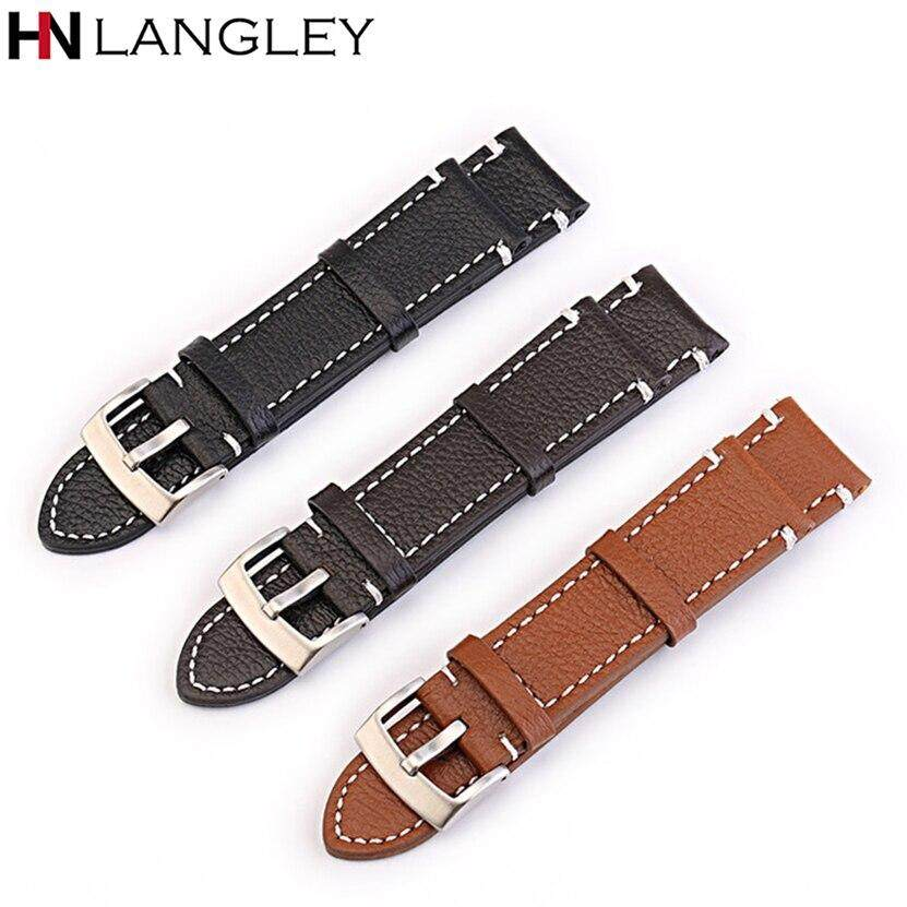 Genuine Leather Watch Band Rough Design Style Mens Fashion Watch Replacement Strap 18/19/20/21/22/24 mm Width Watch Bands Malaysia