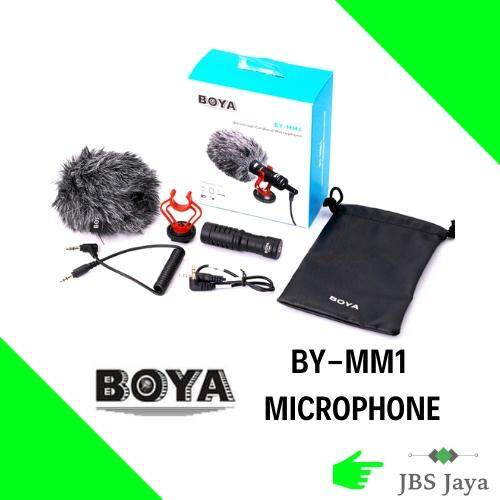 Boya By-Mm1 Cardioid Microphone Mic 3.5mm Plug For Dslr, Smartphone By Jbs Jaya.