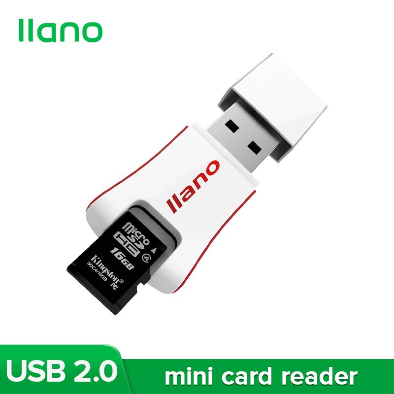 Đầu Đọc Thẻ Nhớ Mini Llano White Hỗ Trợ Thẻ TF Và Thẻ SD Cho Samsung, Xiaomi Và Hơn Thế Nữa