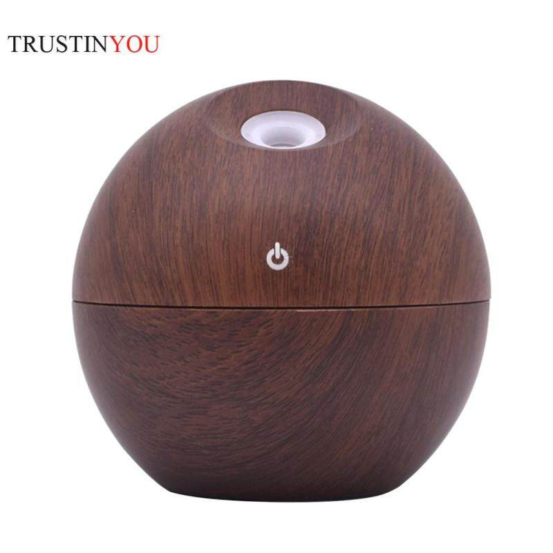 130ml USB Aroma Oil Diffuser Simple Wood Grain Electric Ultrasonic Air Mist Humidifier Home Supply Singapore