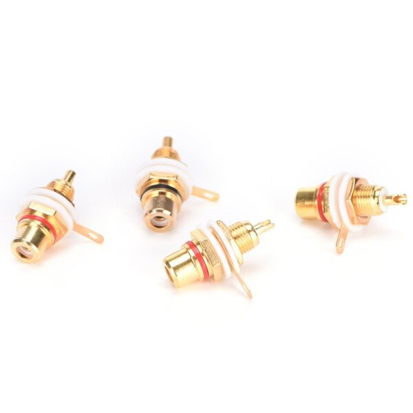 Blowing 10PCS RCA Female Chassis Panel Mount Jack Socket Connector 24K Gold Plated Hot sale