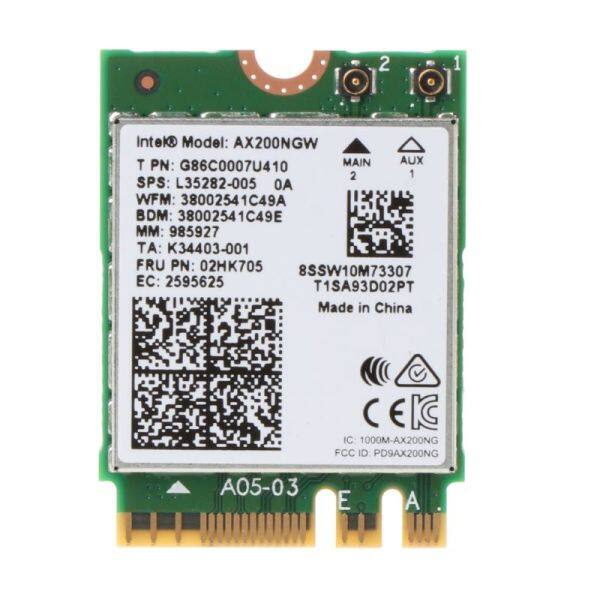 Intel Wi-Fi 6 AX200 802.11ax Dual Band MU-MIMO WiFi WLAN Network Card Bluetooth 5.0 Wireless Card