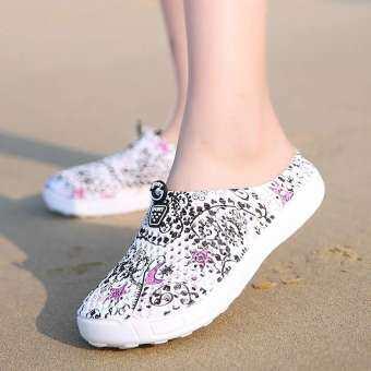 Gould ผู้หญิงสุภาพสตรีรองเท้าแตะชายหาดกลวงออกระบายอากาศสบายๆรองเท้าแตะรองเท้าส้นเตี้ย