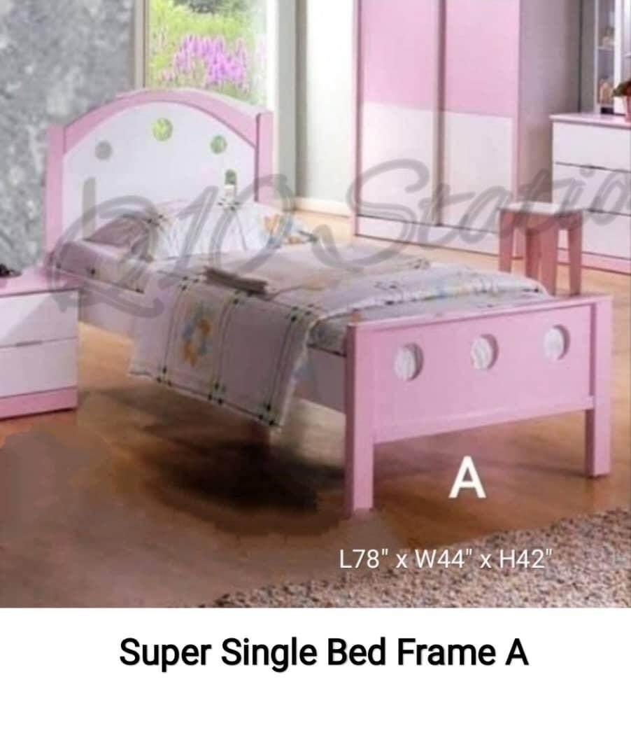 Q 10 Children Bed Frame Kids Bed Kids Wardrobe Kids Study Table Kids Bed Room Set Variety Colour Choices Lazada