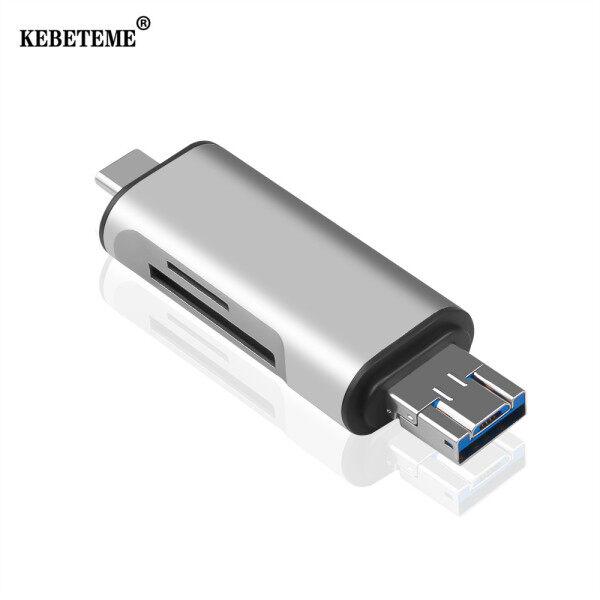 Bảng giá Đầu Đọc Thẻ Nhớ KEBETEME Type C OTG, Đầu Đọc Thẻ Nhớ USB-A-Micro Type-C Đầu Chuyển Đổi USB 2.0, Nguồn Cung Cấp Máy Tính Hỗ Trợ SD TF OTG Phong Vũ