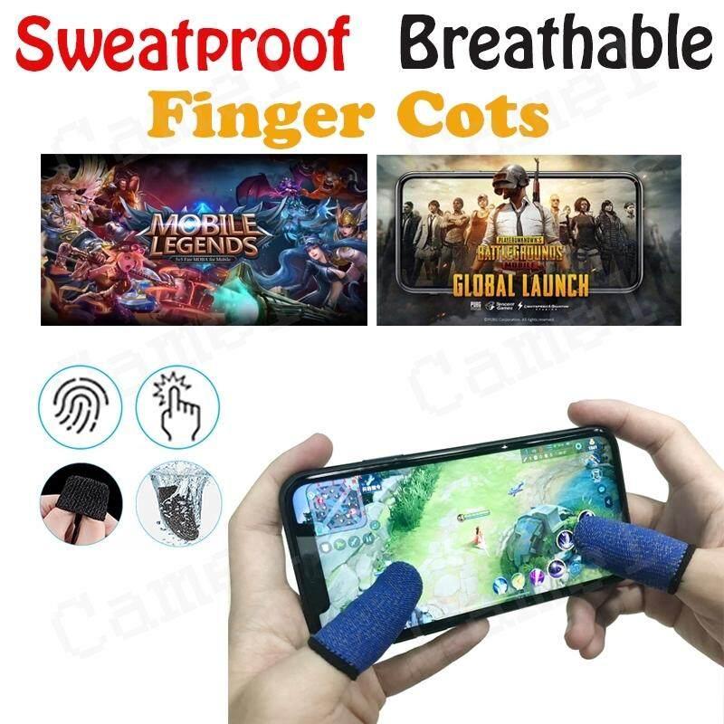2 คู่สเตอริโอที่สวมนิ้วโทรศัพท์จอยควบคุมเกมมือถือแบบบางพิเศษ Sensitive ปลอกนิ้วเกม Essential Accessoryies.