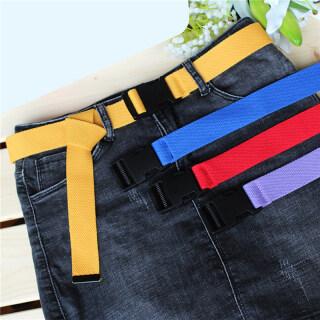 1 Pics Thắt Lưng Vải Bố Nam Nữ Cổ Điển Nhiều Màu Thời Trang Mới Thắt Lưng Nhựa Có Khóa Thắt Lưng Vải Bố Đai Điều Chỉnh Được Cho Nữ thumbnail